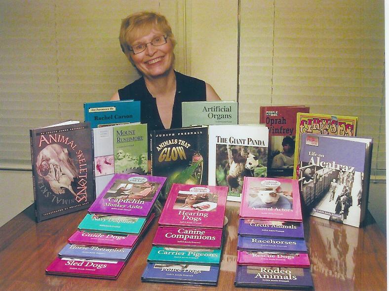 Judy with books