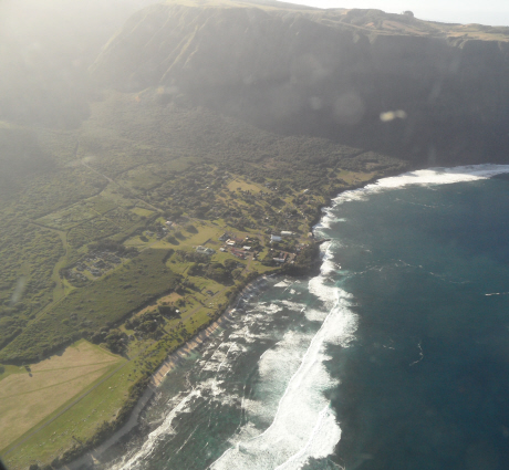 Kaalaupapa from the air